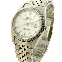 Rolex Used 16220_white_stick_used Mens DATEJUST with Jubilee...
