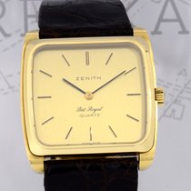 Zenith 18K Gold Square Port Royal Vintage Dresswatch Unisex rar