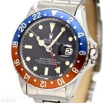 Rolex Vintage GMT Master Ref-1675 Stainless Steel Box US NAVI...