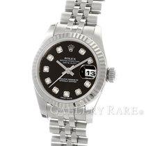 ロレックス (Rolex) Datejust White Gold Fluted Bezel Diamond Index...