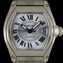 Cartier Stainless Steel Silver Dial Roadster Gents B&P...