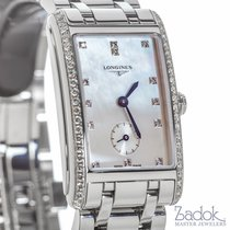 Longines Dolce Vita 23x37mm Steel Watch Diamond Bezel Quartz...