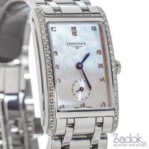 Longines Dolce Vita 23x37mm Steel Watch Diamond Bezel Quartz...