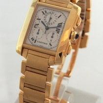 Cartier --- Tank Francaise Chronograph 18k Yellow Gold...