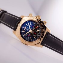 Breitling Limited Edition 18kt Chronomat 44 GMT Black with...