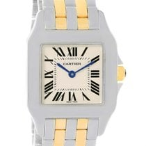 Cartier Santos Demoiselle Steel 18k Yellow Gold Midsize Watch...
