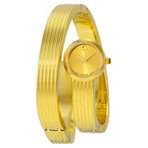 Movado Museum Wrap Yellow Gold Soleil Dial Ladies Dress Watch