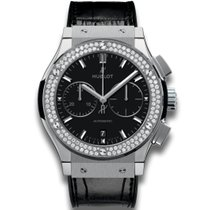 Hublot Classic Fusion Chronograph Titanium Diamonds 45 mm