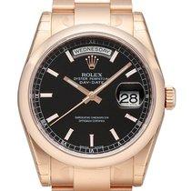 Rolex Day-Date 36 18 kt Everose-Gold 118205 Schwarz Index