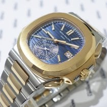 Patek Philippe Nautilus Chronograph Steel & Rose Gold -...