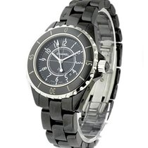 Chanel H0682 J12 - Black 33mm in Black Ceramic - on Black...
