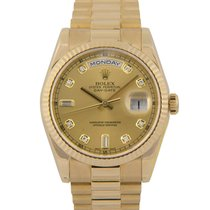 Ρολεξ (Rolex) Rolex 18k Day-Date Diamond Dial, Box &...