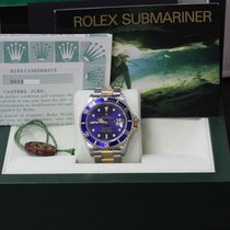 Rolex Submariner 16613 Blue 18K Yellow Gold & Stainless Steel