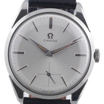 Omega Silver Dial Vintage Stainless Steel Wristwatch