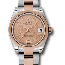 Rolex Unworn 178241pchfo DateJust Two-Tone in Steel with Rose...