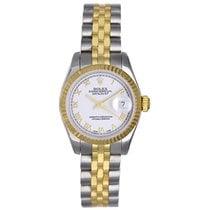 Rolex Ladies Datejust 2-Tone Steel & Gold Watch Roman Dial...