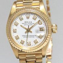 Rolex Datejust President 18k Yellow Gold White Diamond Dial...