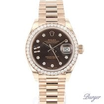 Rolex Datejust 28 Everose Diamond President NEW