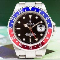 Rolex 16710 16710 GMT Master II SS Red / Blue Pepsi Bezel FULL...