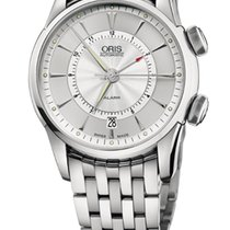 Oris Artelier Alarm Stainless Steel Case an908.760d Bracelet