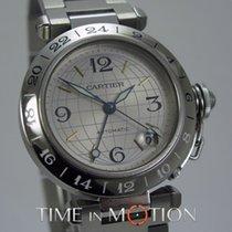 Cartier Pasha GMT Automatique 35 mm Bracelet Acier + Ecrin...