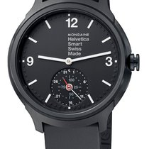 Mondaine UNISEX Quartz 44mm Helvetica 1 Smartwatch MH1.B2S20.RB