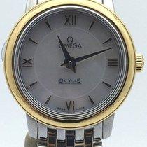 Omega Two Tone Yellow Gold Deville On Bracelet 424.20.24.60.05...