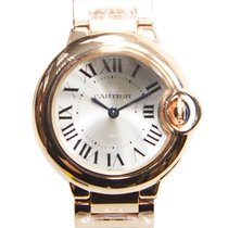 Cartier Ballon Bleu 18k Rose Gold Silver Quartz W69002Z2