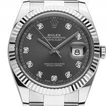 Rolex Datejust 41 Stahl Weißgold Automatik Armband Oyster 41mm...