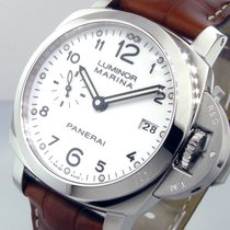 Panerai Unworn  Pam 523 42 Mm Steel Luminor Marina 1950 White...
