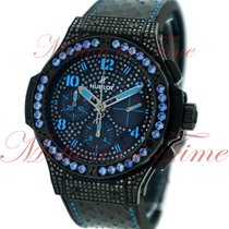 "Hublot Big Bang 41mm Fluo ""Blue"", Black Diamond Dial,..."