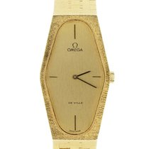 Omega De Ville18k Yellow Gold hexagonal Bracelet Watch