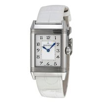 Jaeger-LeCoultre Reverso Duetto Duo White Leather Ladies Watch