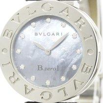 Bulgari Polished  B-zero1 Steel Diamond Mop Dial Ladies Watch...