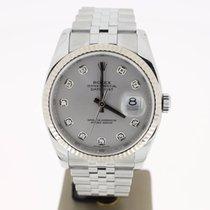 Rolex Datejust 36mm Steel Jubellie GreyDiamondDial (BOX2008) MINT