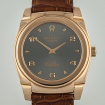 Rolex Cellini, 5320, Ladies, 18K Rose Gold, Crocodile Leather...