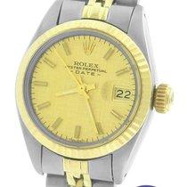 Rolex Date 6917 Florentine Linen 26mm Two Tone Gold Jubilee Watch