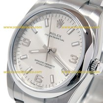 Rolex Oyster Perpetual Silver Key White 34mm Ref. 114200