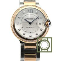 Cartier Ballon Bleu De Cartier 36mm Pink Gold Diamonds NEW