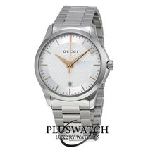 Gucci G-Timeless Silver Dial YA126442 T