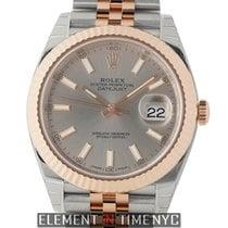 Rolex Datejust II 41mm Steel & Rose Gold Fluted Bezel...
