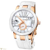 Ulysse Nardin Dual Time Executive White Rose Gold 18K Crocodil...