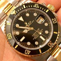 Rolex Submariner Acciaio Oro Steel Gold Quadrante Diamanti...