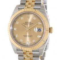 Rolex Datejust II 126333 In Gold An Steel With Diamond, 41mm