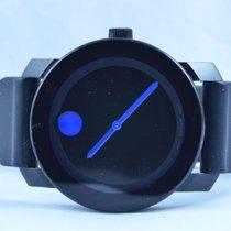 Movado Bold Museum Herren Watch Uhr Rar Stahl Top Quartz 42mm