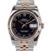 Rolex Datejust 18k Rose Gold Black Automatic 116231BKRN_J