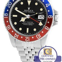 Rolex GMT-Master II Pepsi Blue Red Stainless 16750 40mm Date
