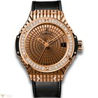 Hublot Big Bang 41 mm 18K Rose Gold Rubber Diamonds Cavier...