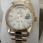 Rolex Oyster Day-Date Yellow Gold Diamond Dial 36 mm (1987)