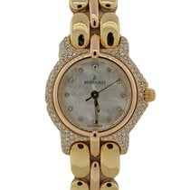 Bertolucci Pulchra 8055 18K Yellow Gold MOP Diamond Bezel 26mm...